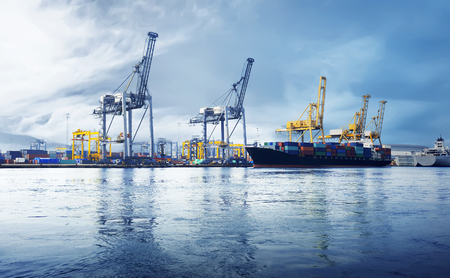 Image of sea port in Jakarta, Indonesia Stock Photo