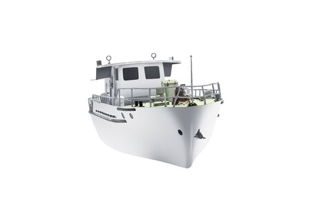 Passenger ferry boat isolated over white background