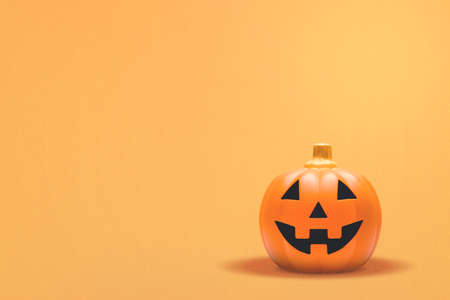 Jack-o-Lantern with a colored background Stock Photo