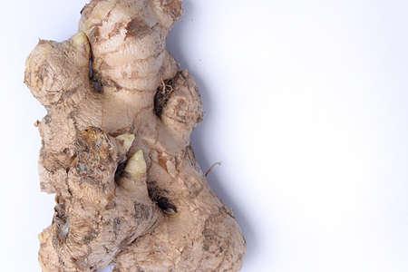 Fresh ginger isolated over white background