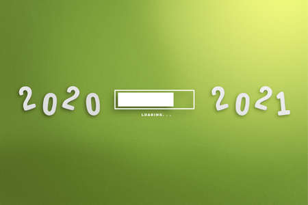 Waiting from 2020 to 2021. Happy New Year 2021 Archivio Fotografico