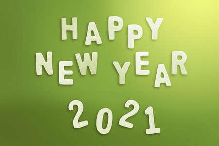 2021 on colored background. Happy New Year 2021