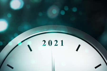 Waiting for 2021. Happy New Year 2021 Archivio Fotografico