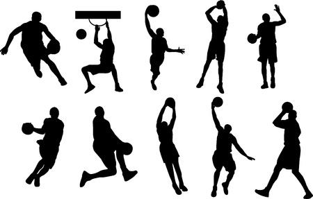 baloncesto: el jugador de baloncesto Vectores
