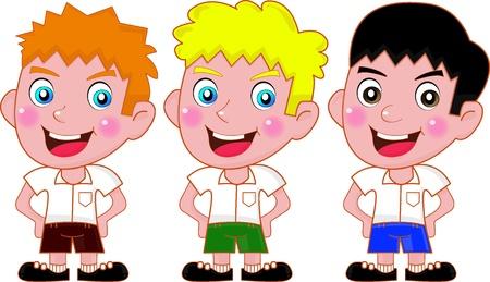 student boy: Studente Boy Vettoriali