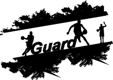 symbol sport: Basketball-Spieler Illustration