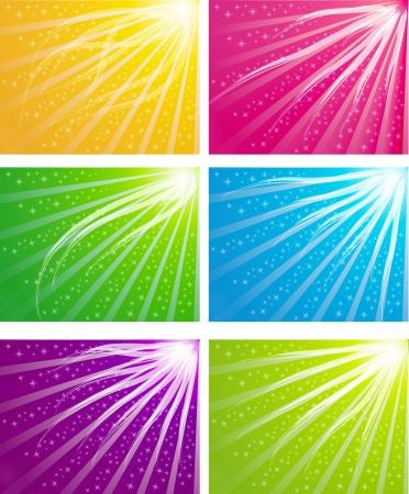 kleur lichte achtergrond Stock Illustratie