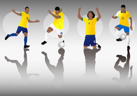 brazil soccer football player Vector