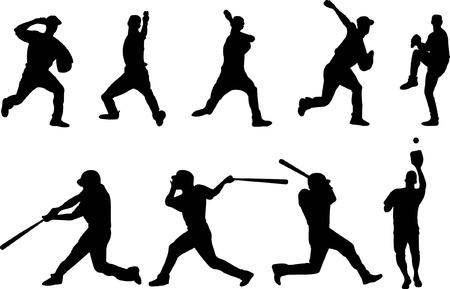baseball speler silhouet