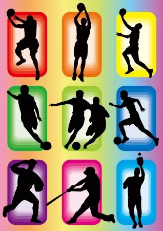 Sport Basketball Fußball Baseball icon Standard-Bild - 20907209