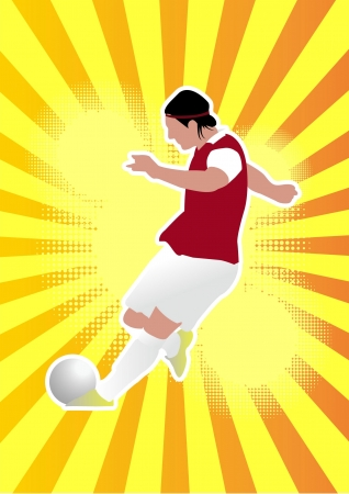 Football player soccer Vector