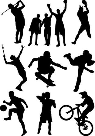 x sport: sport silhouette