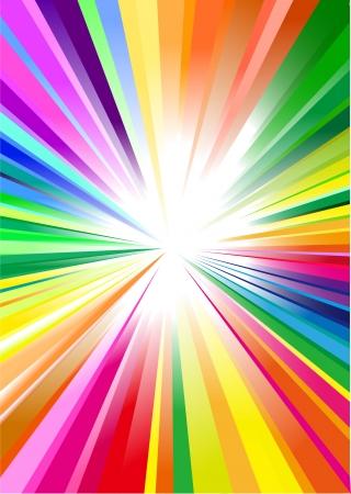 Rainbow graphic background Vector