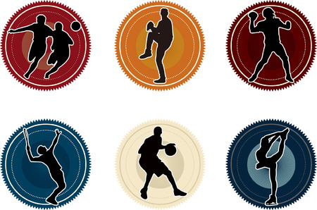 sport basketball soccer baseball icon silhouette Vector