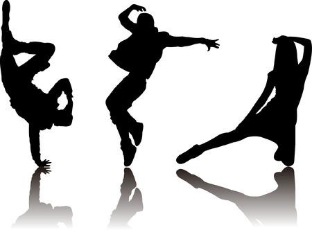 人気のあるダンサー シルエット  イラスト・ベクター素材