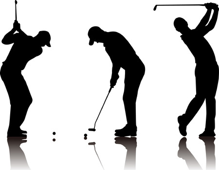 golf clubs: Abstract vector illustration of golfer
