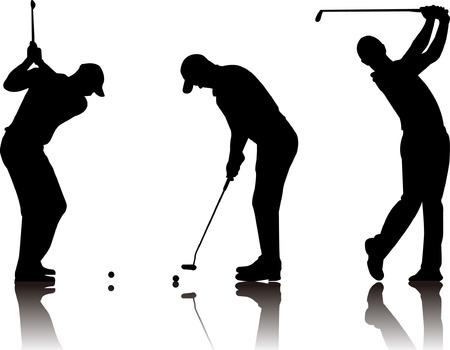 Abstract vector illustration of golfer