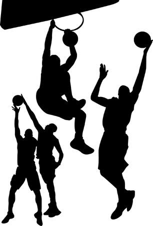 jump shot: playing basketball man shadow