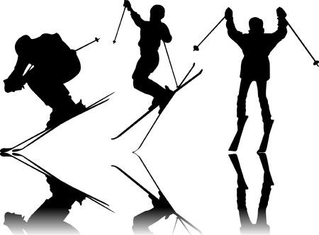Skiën Sport silhouettes