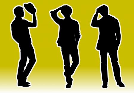 hombres guapos: hombres guapos modelo Silhouette