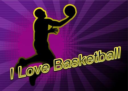 basketball player shadow Silhouette