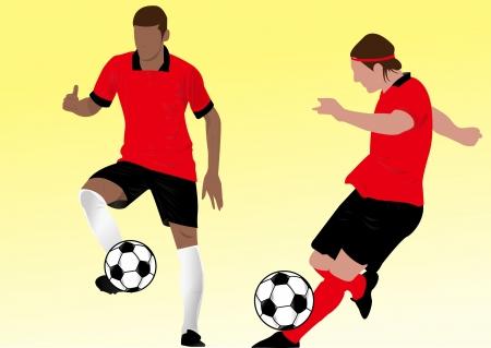 kicking ball: soccer silhouette