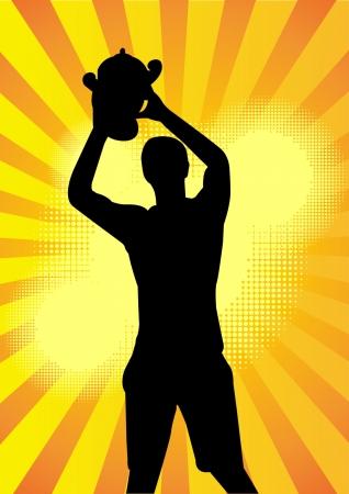 sport player champion Vector