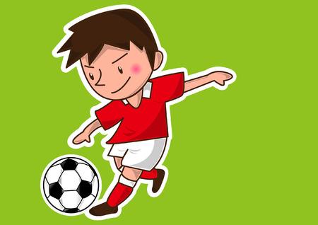 cartoon soccer player Illustration
