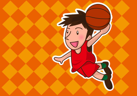nba: cartoon basketball player Illustration