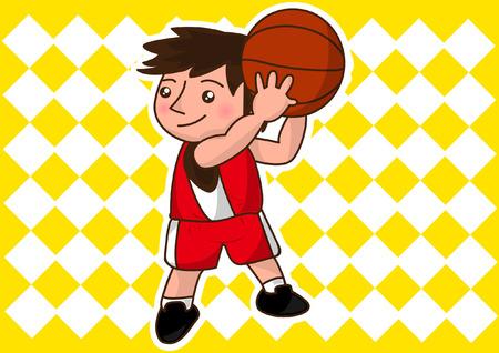 Bande dessinée joueur de basket-ball Banque d'images - 25928731
