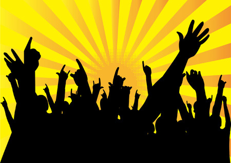 audiences: people  hands up Illustration