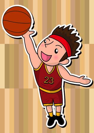 cartoon basketball player Illustration
