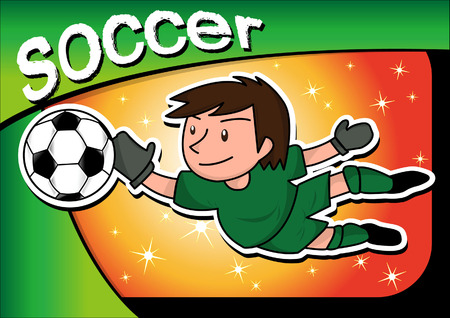 playoff: cartoon soccer player Illustration