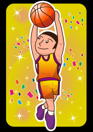 cartoon basketball player Illustration
