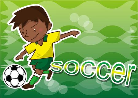 playoff: cartoon soccer player Illustration
