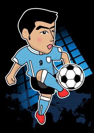 cartoon soccer player or sport man Vector