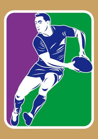 rugbyspeler silhouet