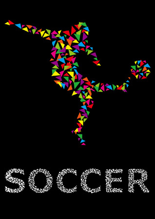 run off: Soccer players silhouette, sports shadow