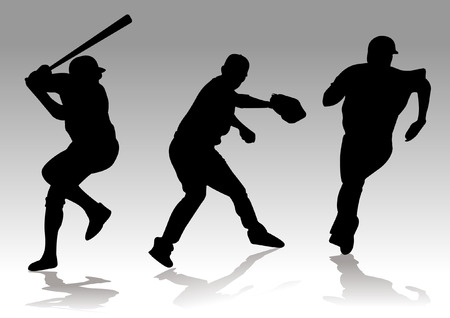 eps picture: baseball player silhouette