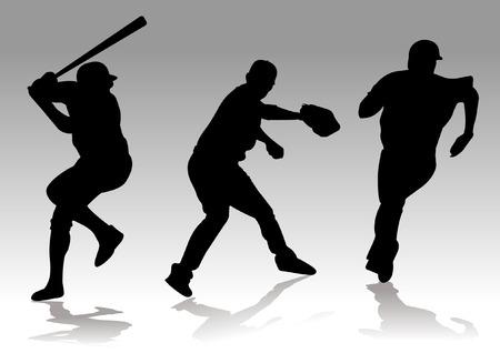 honkbalspeler silhouet