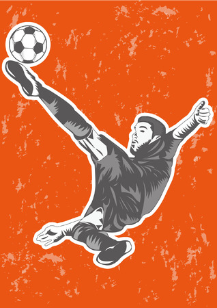 run off: Soccer players silhouette or sports shadow poster