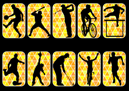 track and field: sport baseball football golf cycling track and field icon silhouette