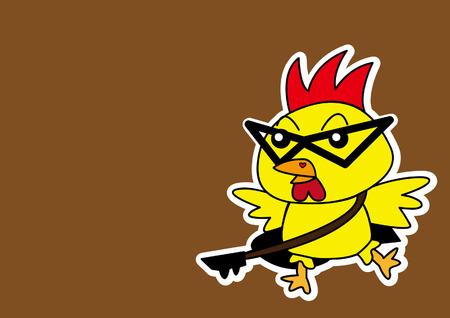 Illustration of chicken cartoon  Vector
