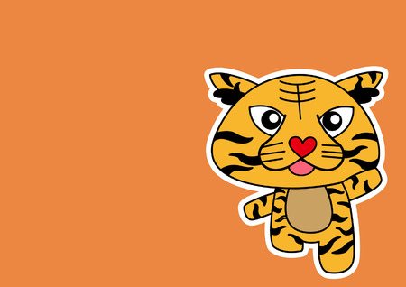 stock clip art icons: Illustration of Tiger cartoon Illustration