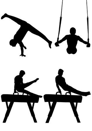 Silueta de gimnasia Foto de archivo - 32187959