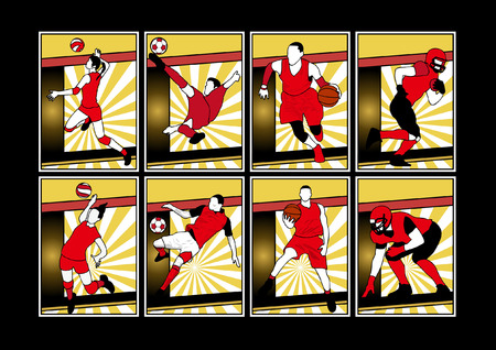 quarterback: Sport players silhouette or sports shadow poster