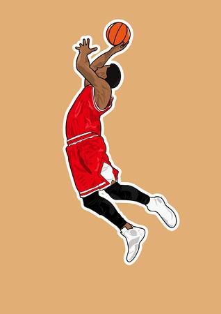 slam dunk: basketball player shadow Silhouette