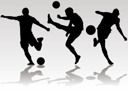 サッカー サッカー プレーヤー シルエット