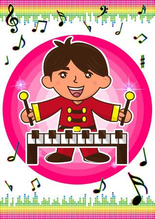 Prodigy: Chłopiec gra na fortepianie Ilustracja