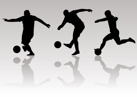 Vector - Soccer football player silhouettes